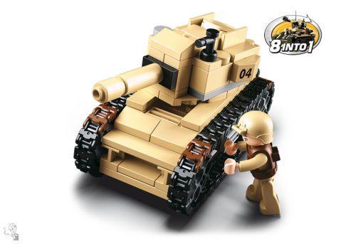 Sluban Tank építőkészlet - 8in1 - M38-B0587B