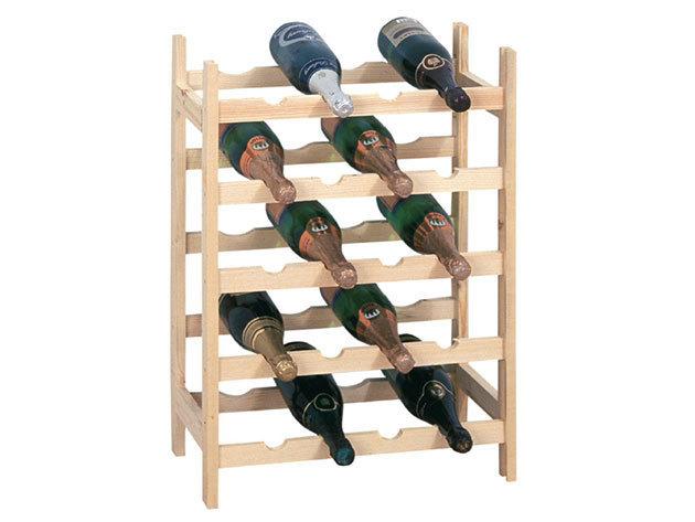 Fából készült 20 palackos bortartó