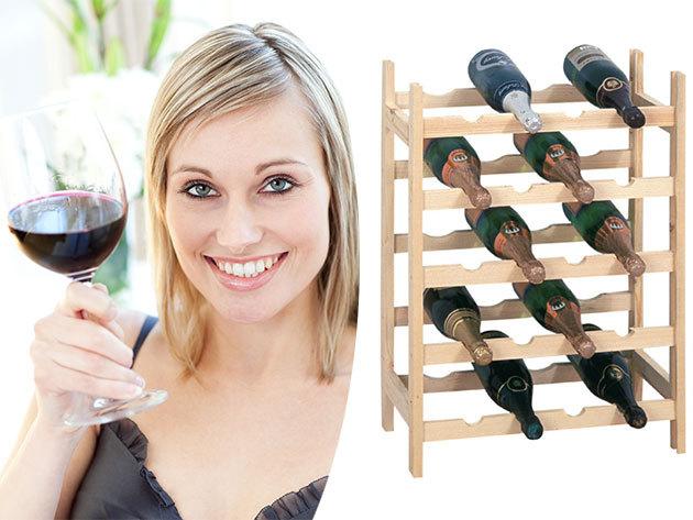 Bortartó állványok fából - férőhely 20 vagy 56 palack számára, hogy féltve őrzött nedűidet ideális helyen tárolhasd