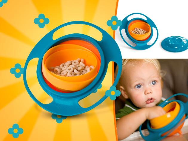 Játékos, mókás és még praktikus is: a Gyro Bowl baba tányérral szórakozás lesz az evés.