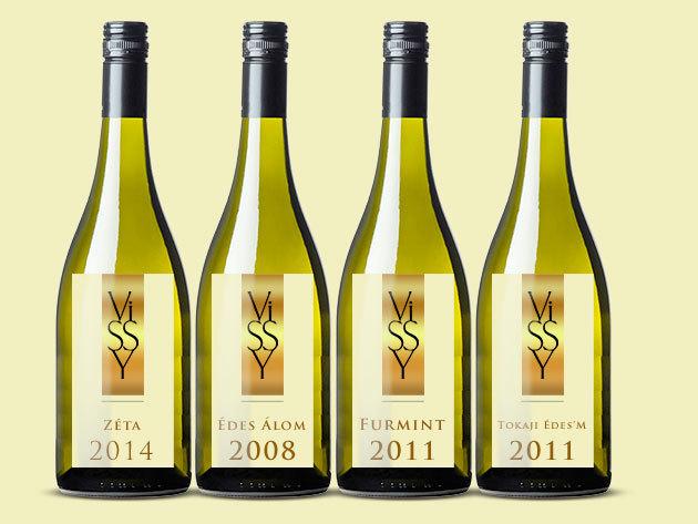 Tokaji borcsomag a Vissy Pincétől (4 palack)