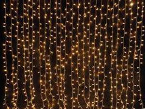 Meleg fehér LED fényfüggöny 2m x 1,5m (210 LED)