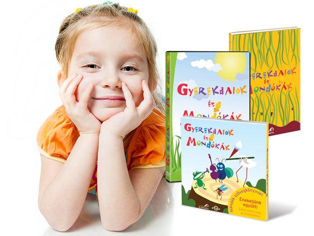 Gyerekdalok és Mondókák ajándékcsomag kisgyermekes családoknak: könyv + CD + DVD igényes képi világgal és finom humorral
