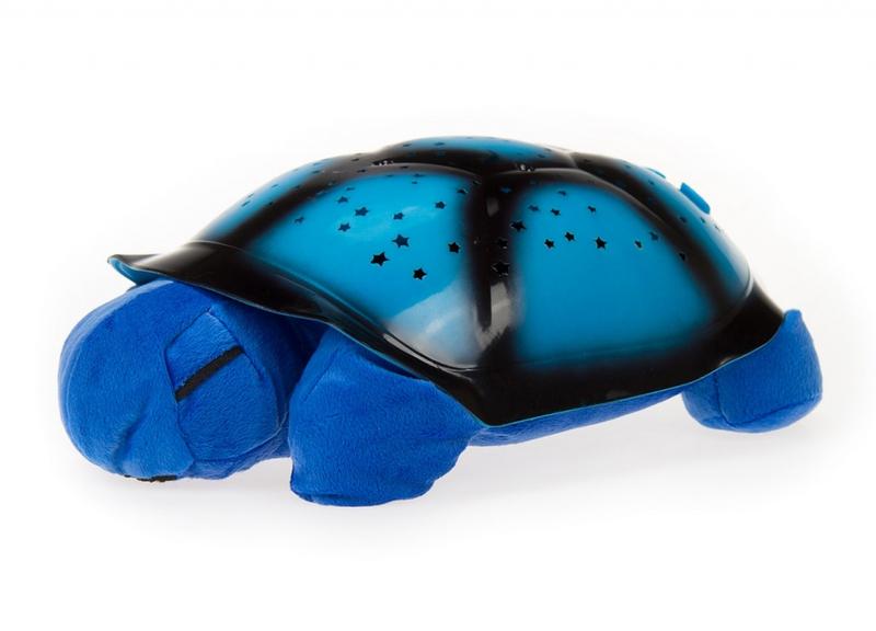 Világító plüssteknős - kék