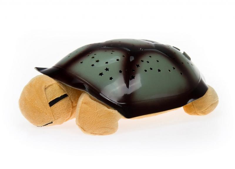 Világító plüssteknős - barna