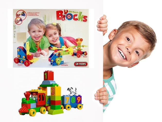 Építőjátékok gyerekeknek - számvonat és 79 részes kreatív készlet / Lepd meg velük gyermekedet!