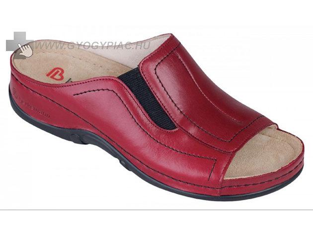 Berkemann sztreccs bőrpapucs - bordó - 37