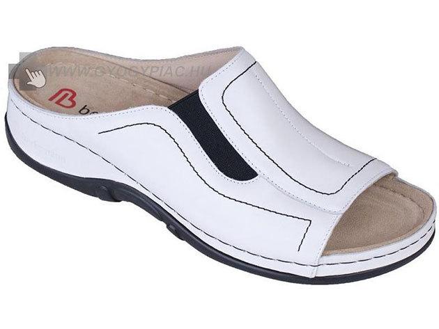 Berkemann sztreccs bőrpapucs - fehér - 35