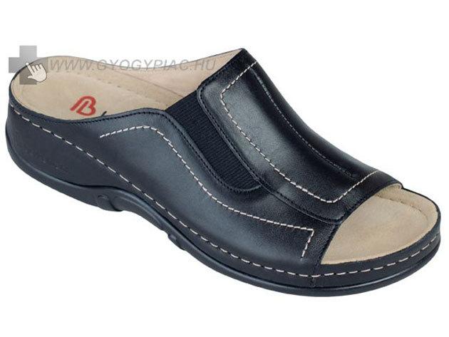 Berkemann sztreccs bőrpapucs - fekete - 35