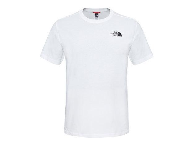 THE NORTH FACE férfi póló SS SIMPLE DOME TEE TNF WHITE - T92TX5FN4 (Utánrendelésre vásárolható) - L