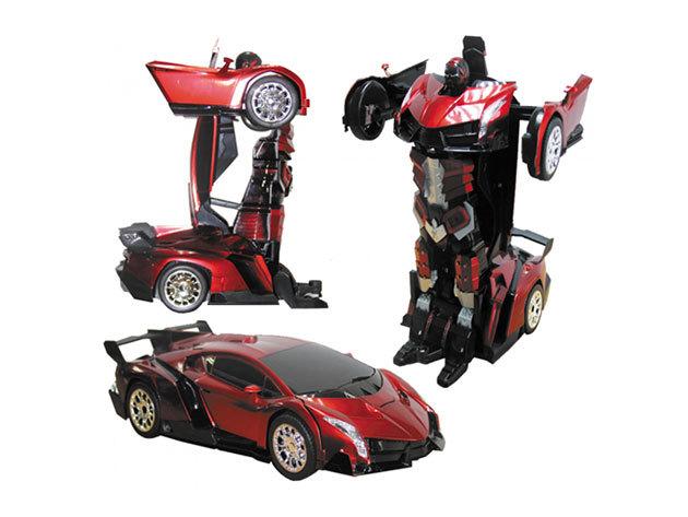 Transformer robot autó Lambo piros közepes - IRP-000002361