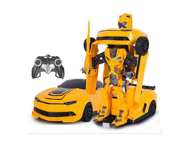Transformer 2 in1 játék - robot szuperhőssé alakítható távirányítós autó, beépített akkumulátorral