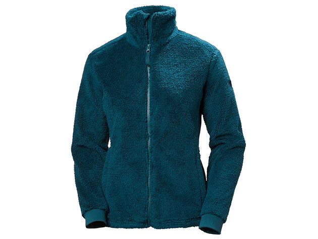 Helly Hansen W PRECIOUS FLEECE JACKET MIDNIGHT GREEN XL (51798_436-XL)