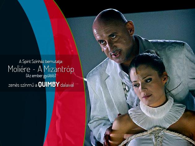 Vígjáték és mély gondolatok a Quimby zenéjével tolmácsolva Moliére: A mizantróp előadásán.