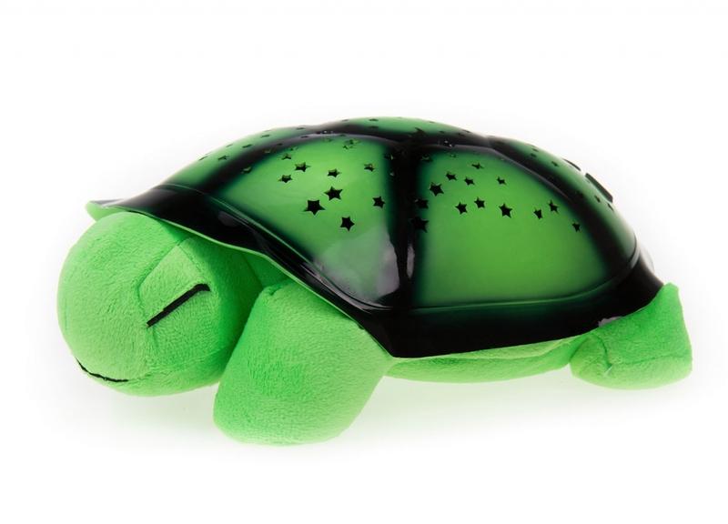 Világító plüssteknős - zöld