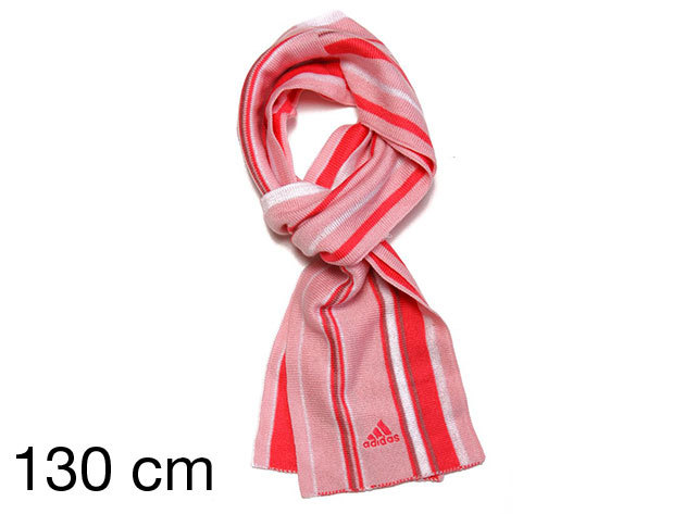 Adidas Y Stripy - női sál rózsaszín 130 cm (E81888_rózsaszín_130 cm)