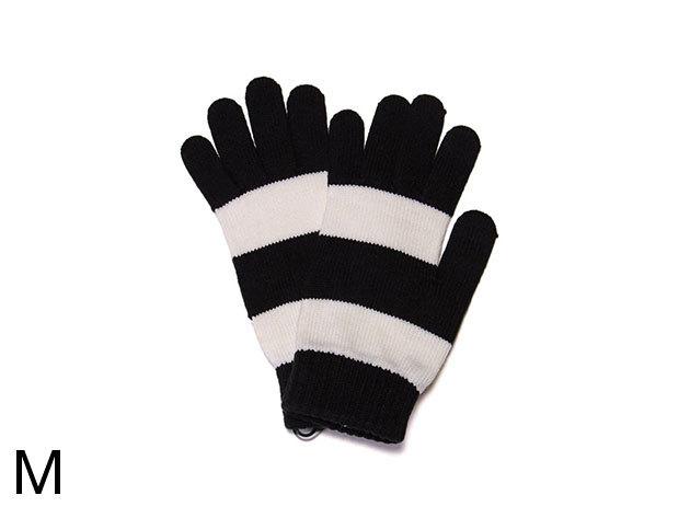 Adidas City Block  - női kesztyű fekete-fehér M (O05757_fekete-fehér_M)