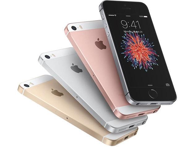 iPhone SE telefon (független, 16 GB) választható színben,üvegfóliával  + könyvtokkal + autós töltővel + tartóval