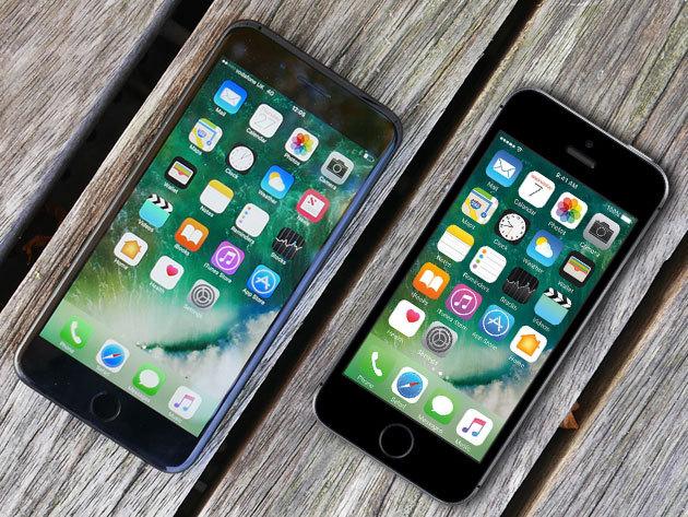 iPhone 7 (32 GB) és  iPhone SE (16 GB) kártyafüggetlen készülékek több színben, üvegfóliával (felrakással együtt) + könyvtokkal + autós töltővel és tartóval + extra kedvezmények