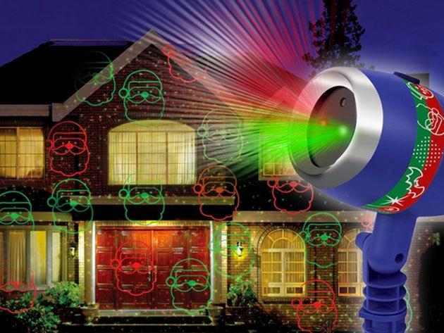 Star Shower Laser Magic - ünnepi díszvilágítás kábelek nélkül, földbe szúrható, lézerfényű készülékkel
