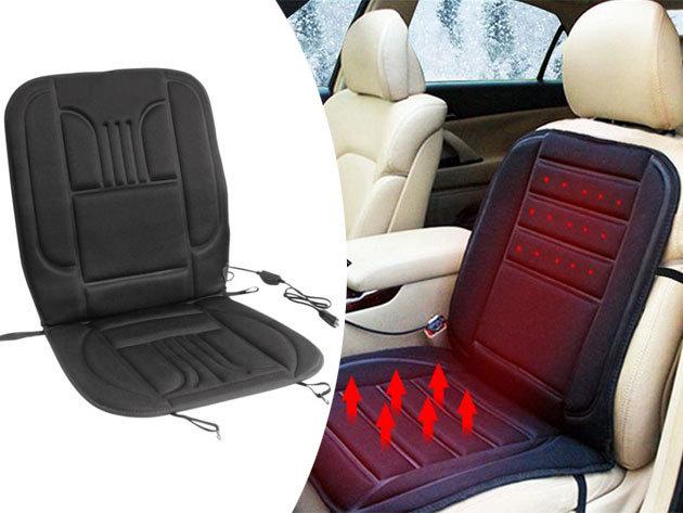 Fűthető autós ülésvédő, mely szivargyújtóra csatlakoztatható - Élvezd a vezetést télen is, kellemes melegben!