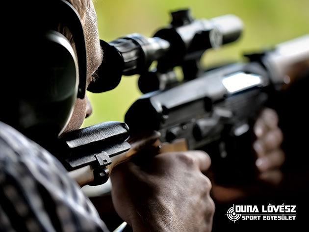 Sniper csomag a 300 méteres belövő pályán:  30 lövés