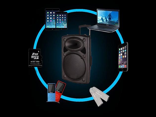 Hordozható akkus bluetooth hangfal kiváló hangzással és számos praktikus funkcióval