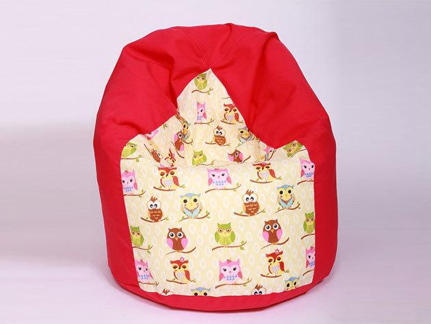 Csepp alakú babzsákfotel gyerekeknek / bagoly
