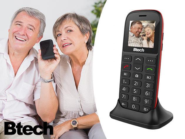 Senior mobiltelefon! Könnyű használat, nagy nyomógombok! Btech BGM-1050 Slim, kártyafüggetlen