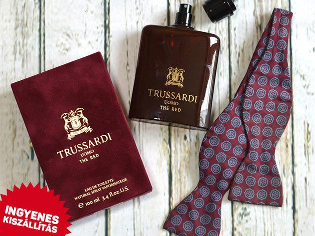 Trussardi - Uomo The Red EDT férfiaknak (100ml) és Blue Land EDT (100ml) ingyenes kiszállítással!