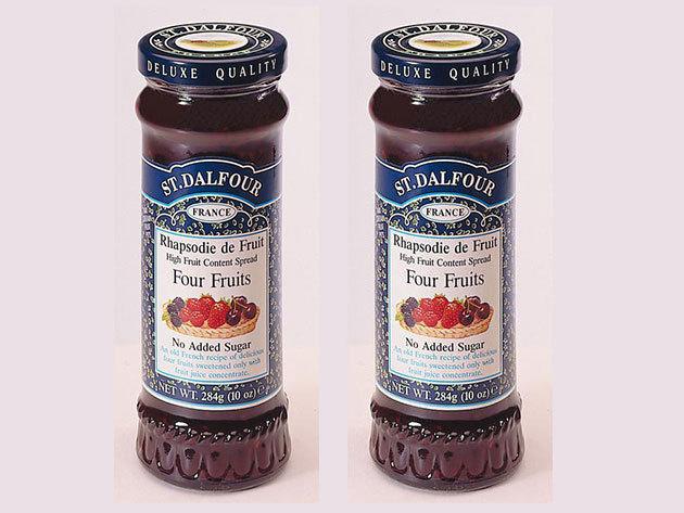 St. Dalfour lekvár Duo pack mutatós dobozban, porcelán kanálkával - vegyes gyümölcs