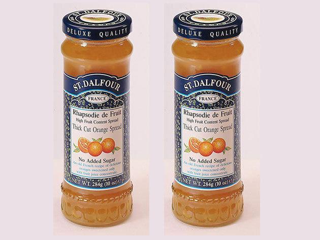 St. Dalfour lekvár Duo pack mutatós dobozban, porcelán kanálkával - narancs