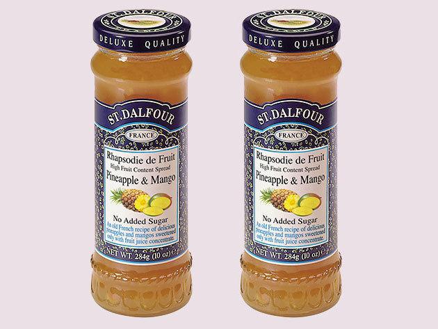 St. Dalfour lekvár Duo pack mutatós dobozban, porcelán kanálkával - ananász mangó