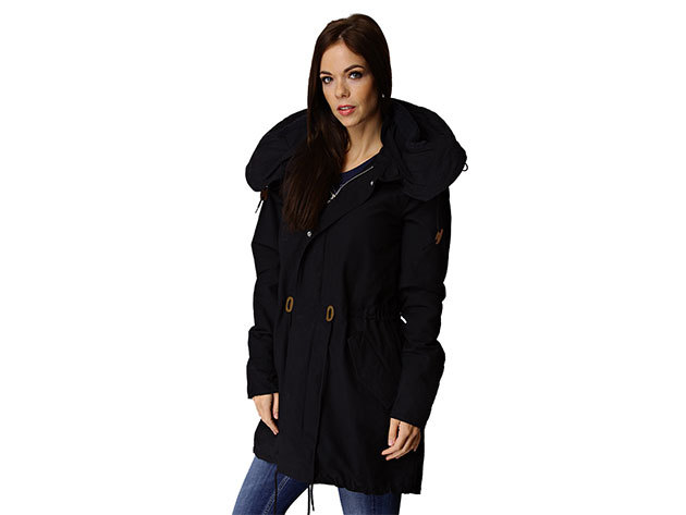 Adidas F Parka - női kabát fekete 40 (O58370_fekete_40)