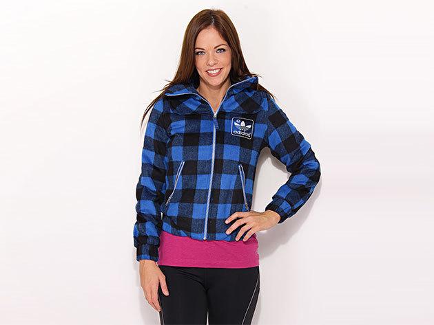 Adidas ST Wool Jacket - női kabát kék-fekete 42 (O58320_kék-fekete_42)