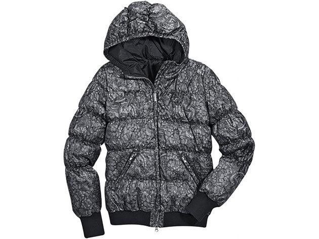 Adidas F Lace Down Jkt - női kabát fekete-szürke 34 (O58368_fekete-szürke_34)