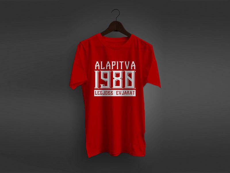 """Évszámos póló """"Alapítva …. Legjobb évjárat"""""""