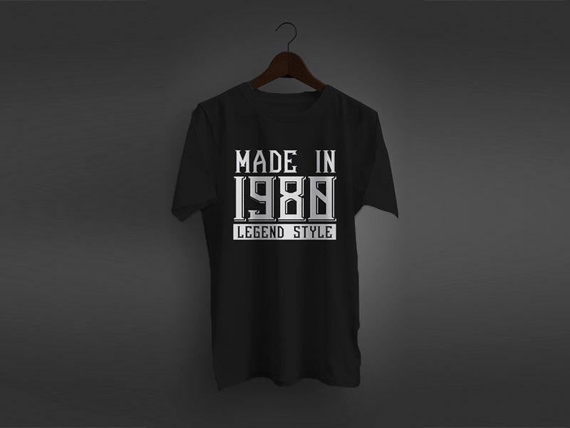 """Évszámos póló """"Made in …. Legend Style"""""""