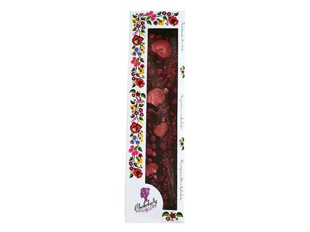 Chokolady eper málna ribizli étcsoki 54% kakaó szárazanyag tartalommal. 110 gr