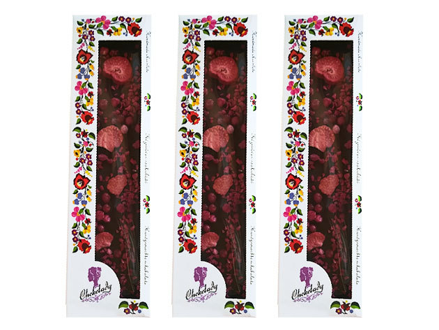 Trio Pack! 3 db Chokolady eper málna ribizli étcsoki 54% kakaó szárazanyag tartalommal. 3x110 gr