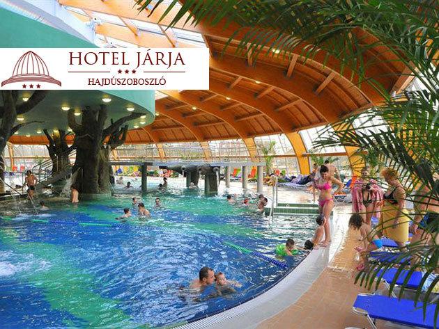 Hajdúszoboszló - élmény és pihenés a fürdő kapujában / Hotel Járja***, 3 nap 2 éjszaka 2 fő részére, félpanziós ellátással és Aqua-Palace belépővel, akár hétvégére is