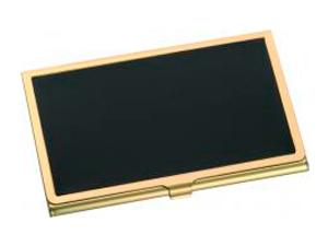 Arany-fekete névjegykártya tartó