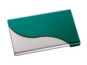 Zöld átlós hullámos névjegykártya tartó