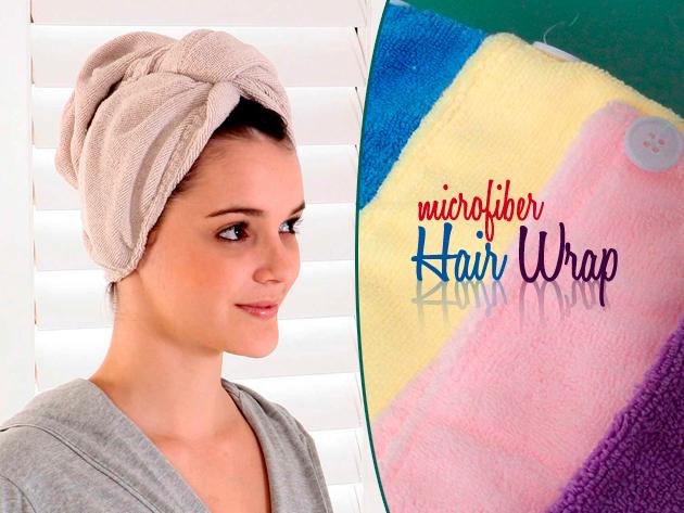 Hagyd a hajszárítót hátra, a Hair Wrap mikroszálas hajszárító kendővel rendkívül gyorsan és egyszerűen lesz száraz a hajad.
