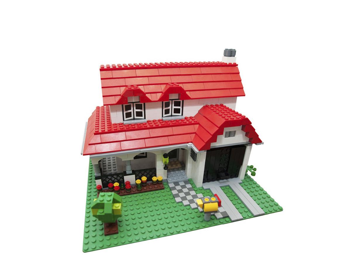 Lepin építőkocka - Város - Kertes ház - 24027