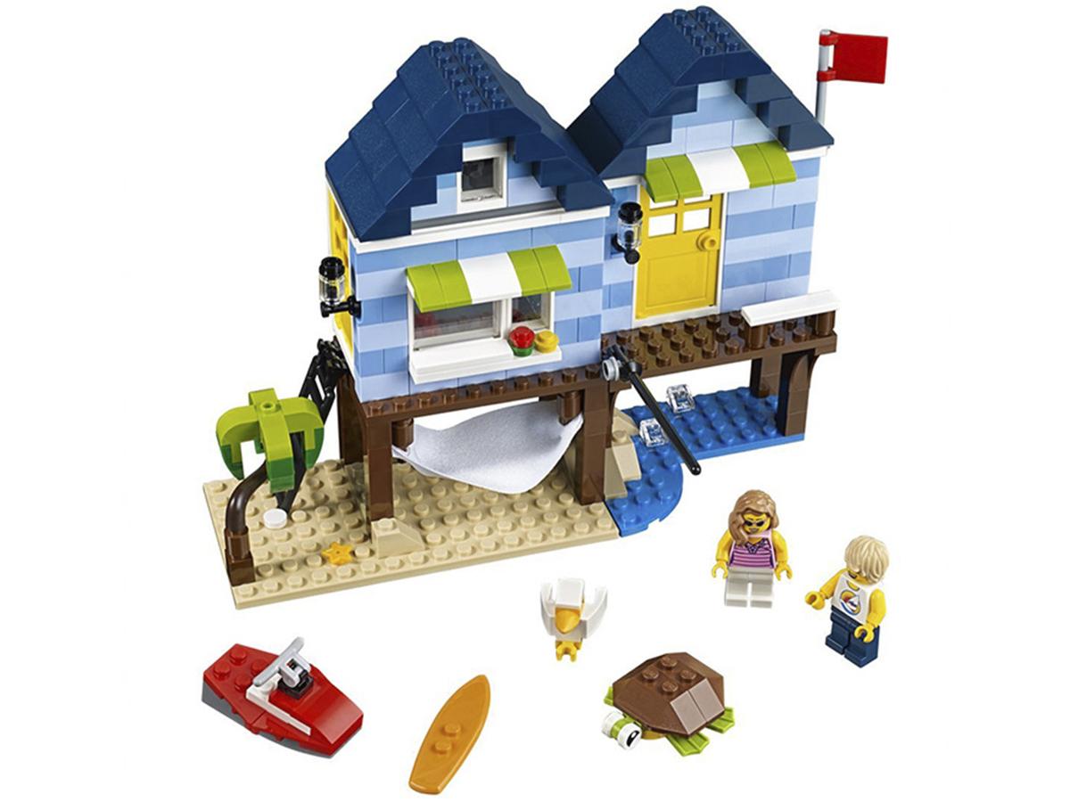 Építőkocka szettek (Lepin) kertes ház, hamburgerező és nyaraló útmutató füzettel (nagy darabszámú készletek)