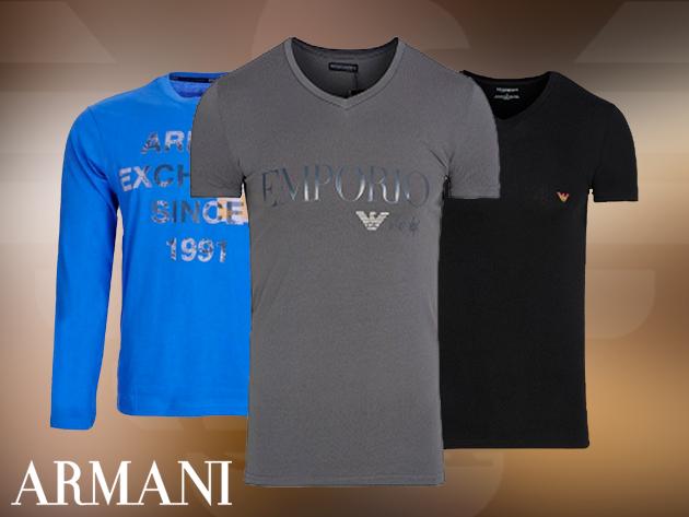 Armani férfi rövid- és hosszú ujjú pólók, most óriási akcióban (S-XL)