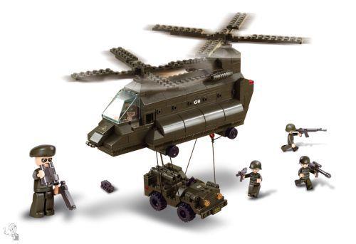 Sluban Katonai Szállító Helikopter építőkészlet