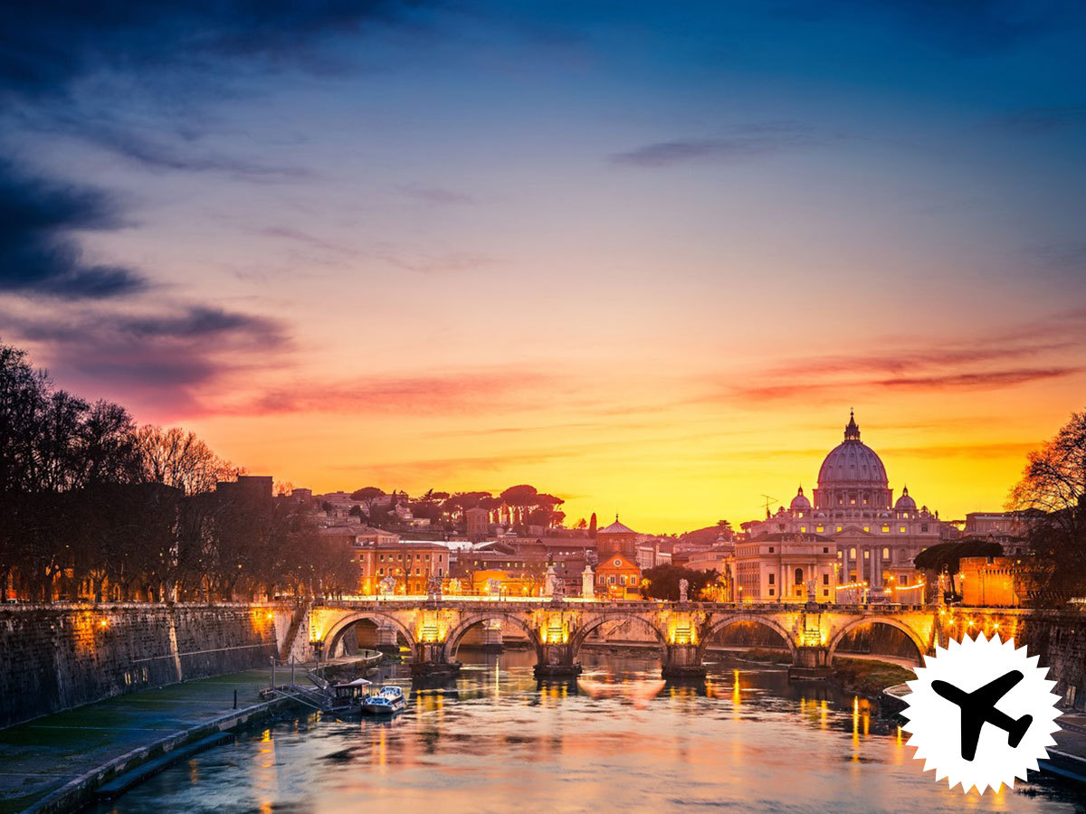 Római utazás repülővel, szállás 3 csillagos szállodában reggelis ellátással (4 nap 3 éjszaka) repjegy + illeték 2 főre