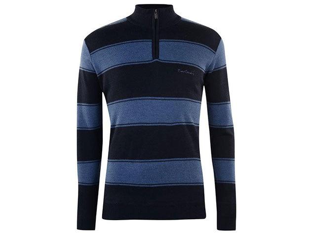 Pierre Cardin pulóver - sötétkék / kék - M